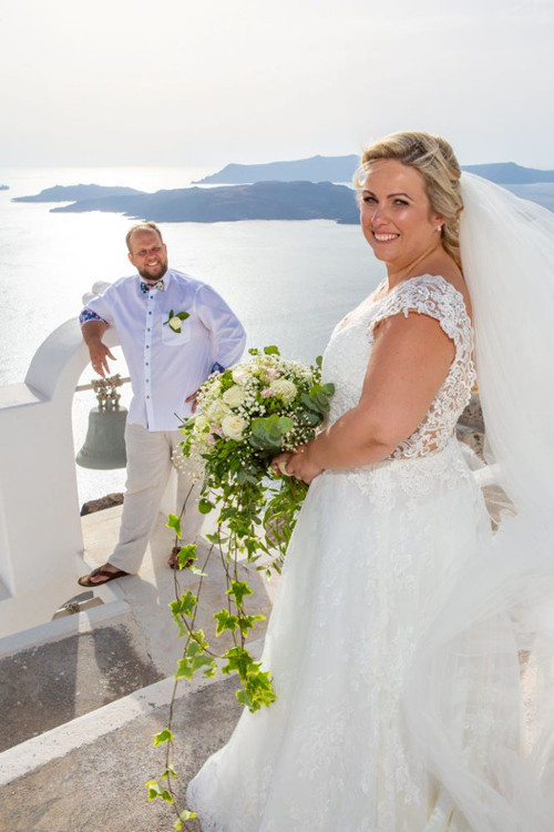 Diana Arnt wedding at santorini